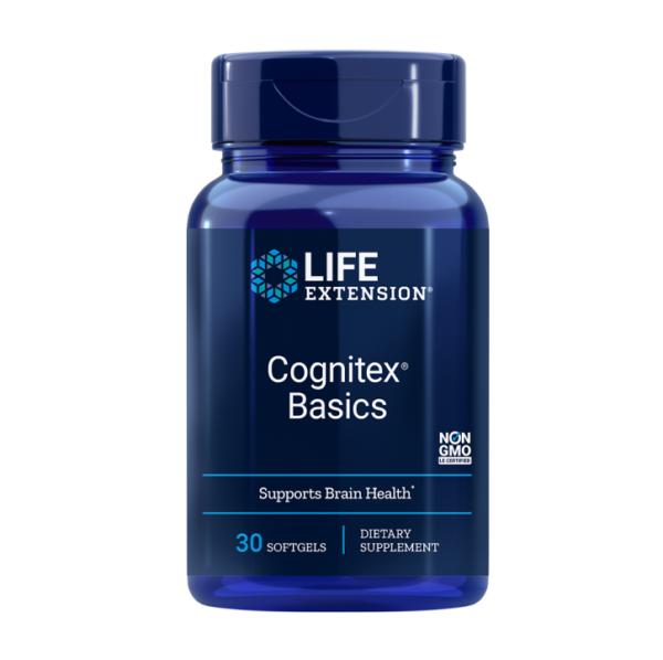 a bottle of Cognitex basics brain supplement