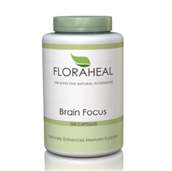 a bottle of Floraheal brain focus