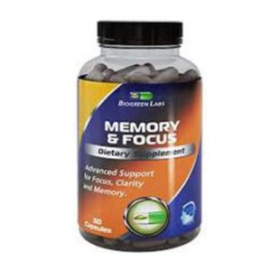 Memory and Focus brain supplement bottle