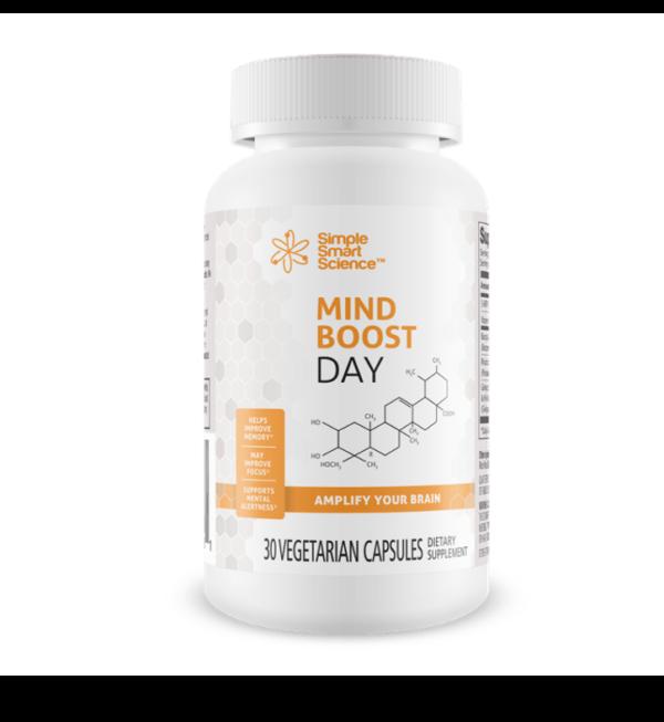 a bottle of MindBoost Day brain enhancement