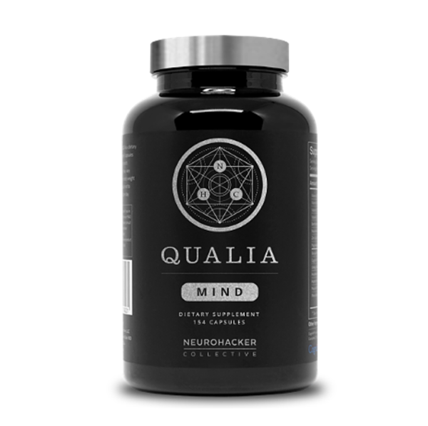 a bottle of Qualia mind brain supplement