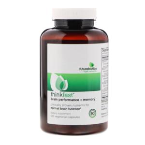a bottle of Thinkfast by Futurebiotics brain supplement