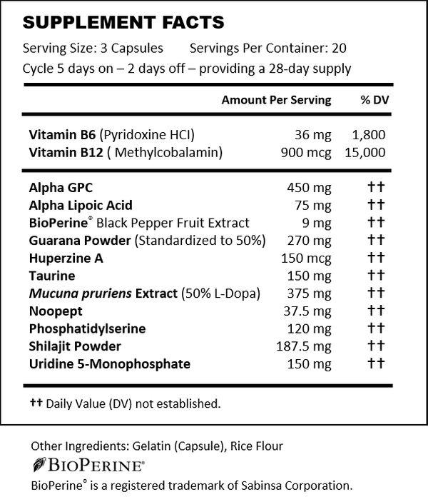 Nitrovit supplement facts