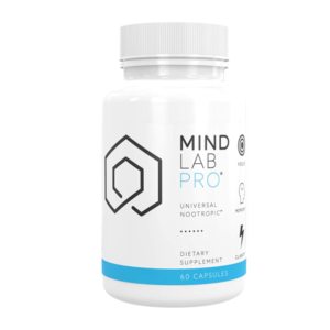 a bottle of Mindlab Pro brain supplement