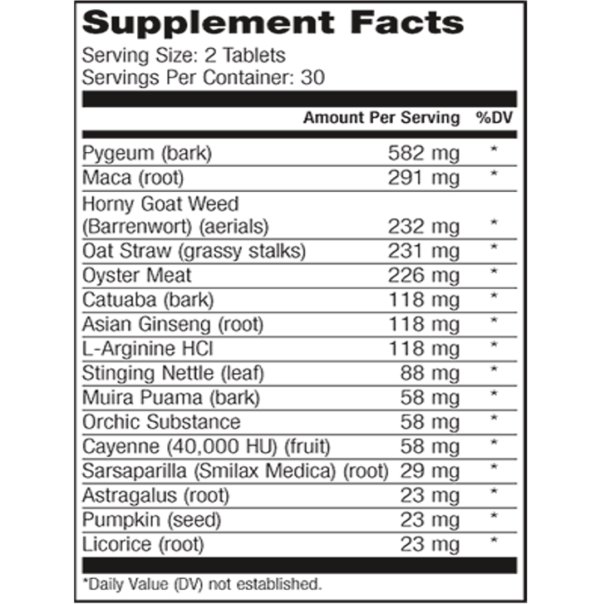 a Magna RX plus ingredients, Magna RX plus supplement facts
