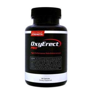 a bottle of OxyErect Pro male enhancement