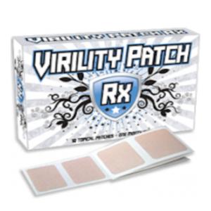 a box of Virility patch rx male enhancement