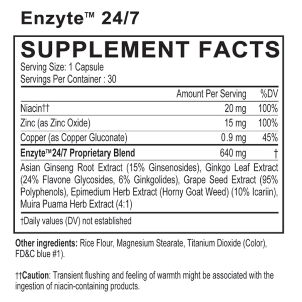 an Enzyte ingredients supplement facts