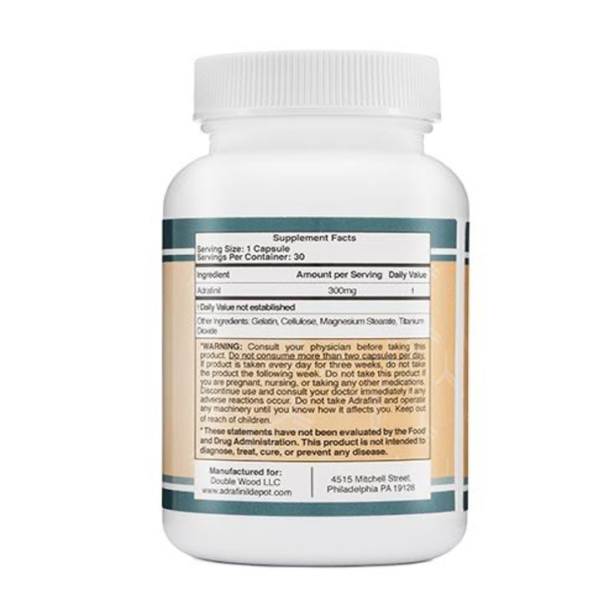 a ingredients list of Adrafinil by double wood brain supplement