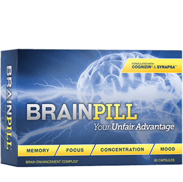 a box of Brain Pill Your Unfair Advantage brain supplement