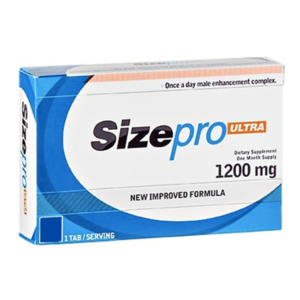 a box of Sizepro ultra male enhancer packet