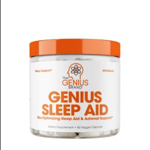 A bottle of Genius sleep aid sleeping pill