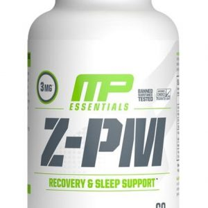 musclepharm z-pm recovery and sleep support supplement bottle