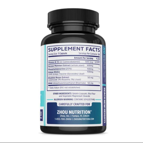 a bottle of Neuro Peak ingredients
