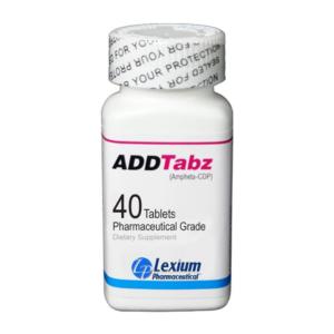 a bottle of ADDTabz brain supplement