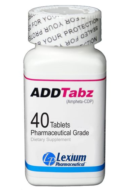 a bottle of ADDTabz brain supplement