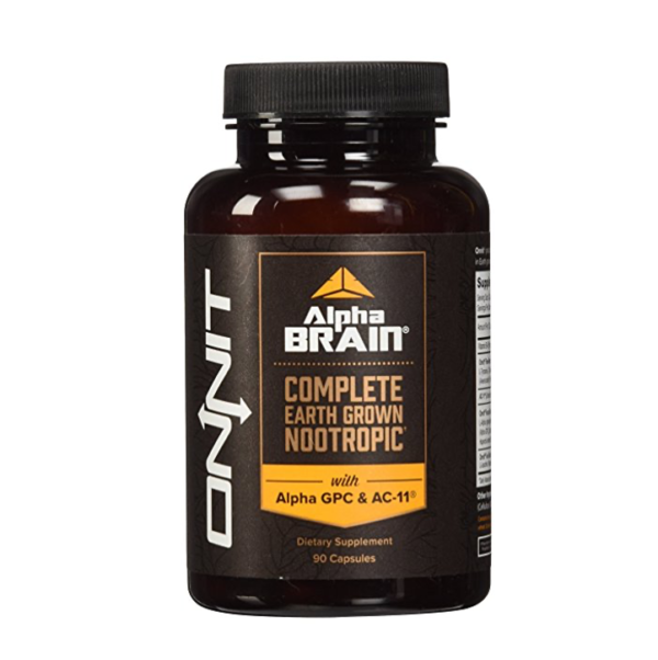 a bottle of Alpha Brain by Onnit